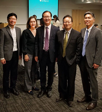 Consul General of Korea with others at the panel reception