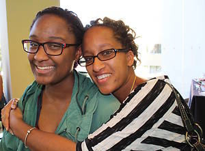 USF student and her mother for parent weekend