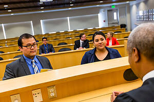 Students in the USF School of Law Moot Court