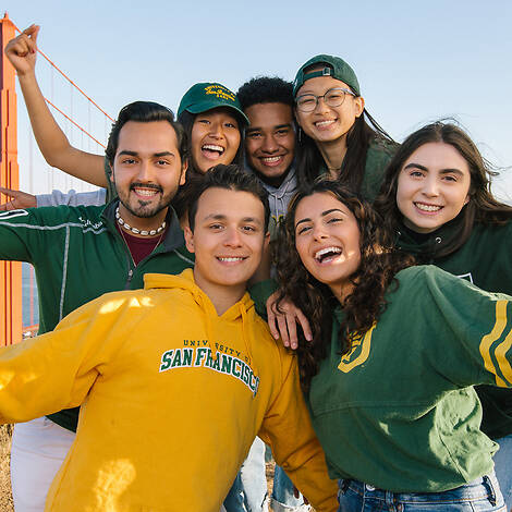 USF Students near Golden Gate Bridge