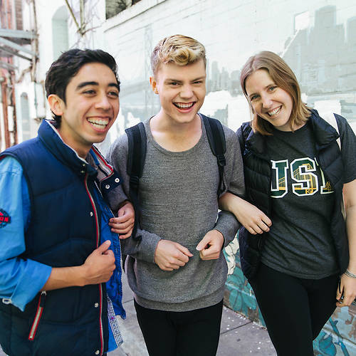 3 USF students on the streets in SF