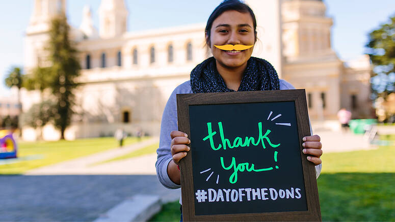 thank you hashtag day of the dons