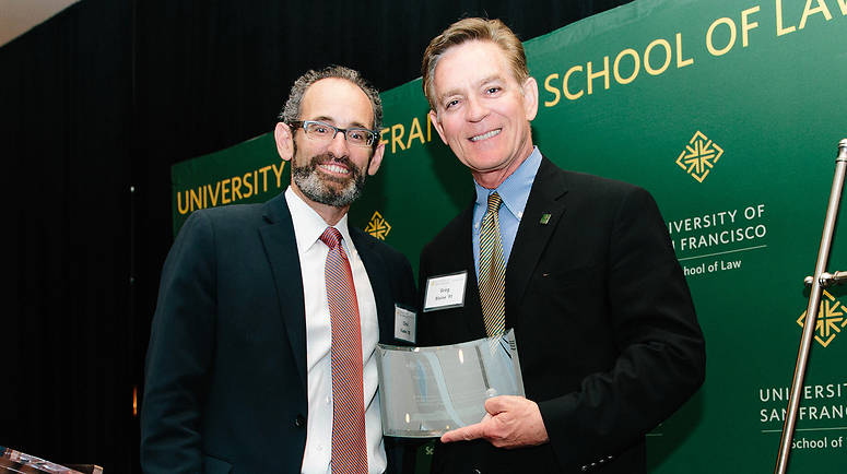 Board of Governors President Christopher Viadro '92 and Alumnus of the Year Gregory H. Blaine '91