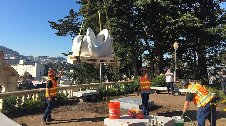 Sculpture moving at USF