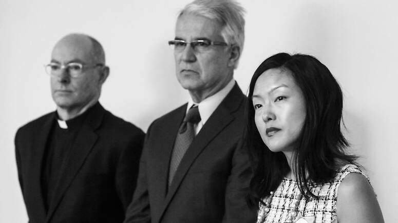 USF President Paul J. Fitzgerald S.J., District Attorney George Gascon, Supervisor Jane Kim