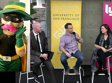 USF San Francisco Advantage: students meet start-up founders of Lyft, Pinterest and Stripe
