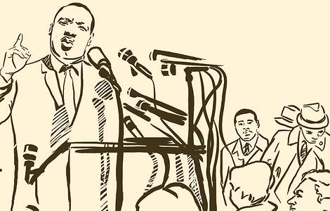 Illustration of Martin Luther King Jr.